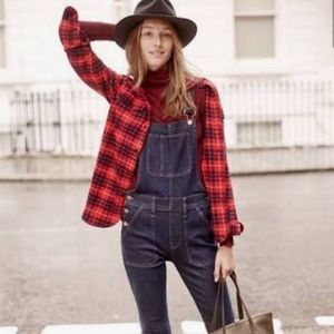 MADEWELL red plaid checkered flannel SHIRT black